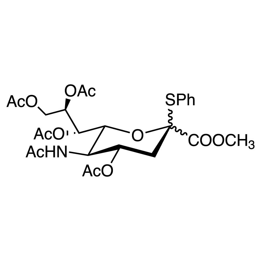 Methyl 5-Acetamido-4,7,8,9-tetra-O-acetyl-3,5-dideoxy-2-S-phenyl-2-thio-D-glycero-D-galacto-2-nonulopyranosylonate