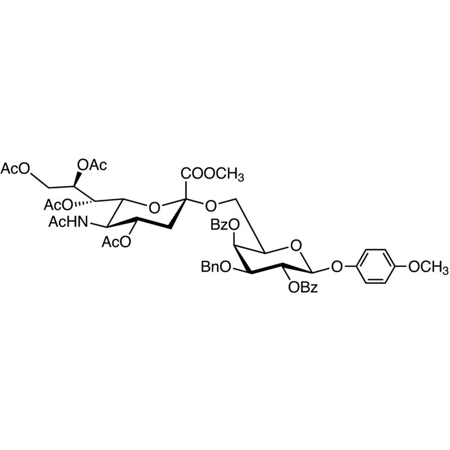 Neu5Ac[1Me,4789Ac](2-6)Gal[24Bz,3Bn]--MP