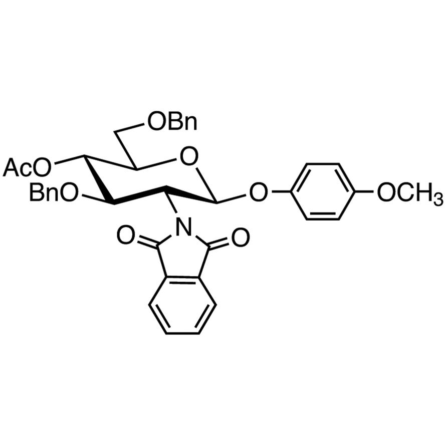 4-Methoxyphenyl 4-O-Acetyl-3,6-di-O-benzyl-2-deoxy-2-phthalimido--D-glucopyranoside