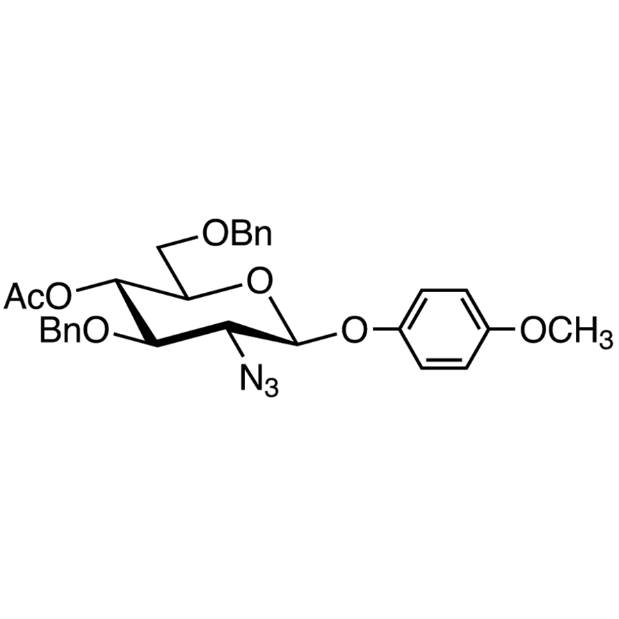 4-Methoxyphenyl 4-O-Acetyl-2-azido-3,6-di-O-benzyl-2-deoxy--D-glucopyranoside