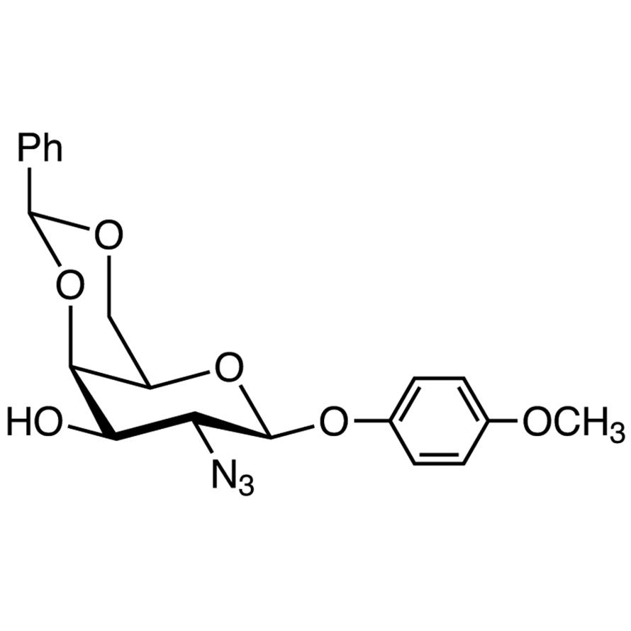 4-Methoxyphenyl 2-Azido-4,6-O-benzylidene-2-deoxy--D-galactopyranoside
