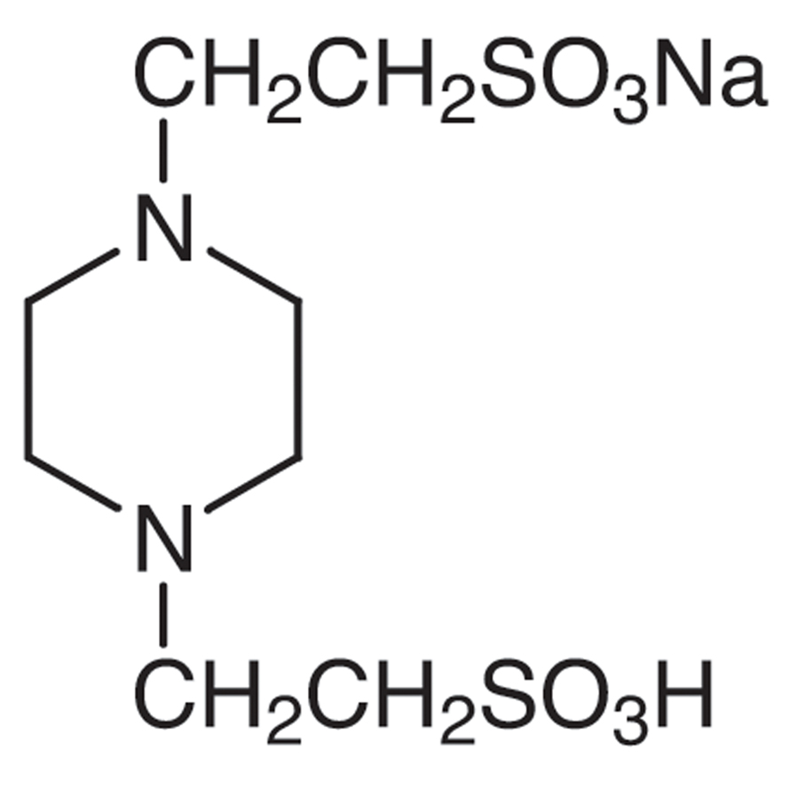Piperazine-1,4-bis(2-ethanesulfonic Acid) Monosodium Salt [Good's buffer component for biological research]