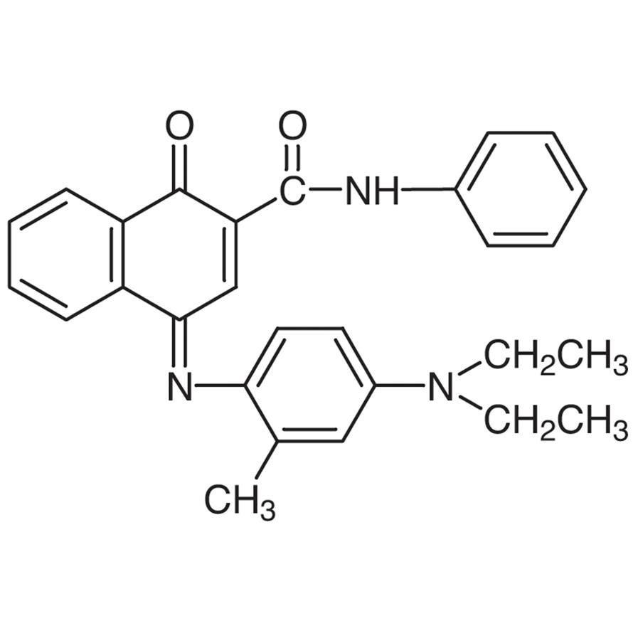 2-Phenylcarbamoyl-1,4-naphthoquinone-4-(4-diethylamino-2-methylphenyl)imine