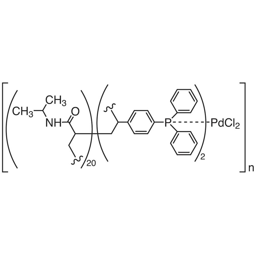 Poly[N-isopropylacrylamide-co-4-(diphenylphosphino)styrene] Palladium(II) Dichloride (ratio, acrylamide:phosphine=20:2)