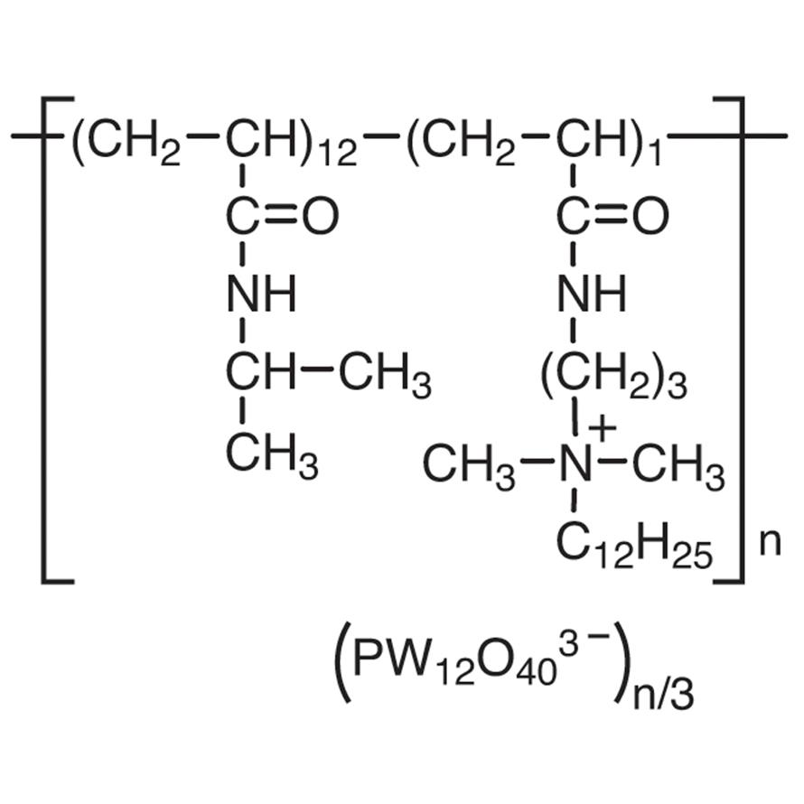Poly[[N-isopropylacrylamide-co-[N-[3-(dodecyldimethylammonio)propyl]acrylamide]]phosphotungstate]