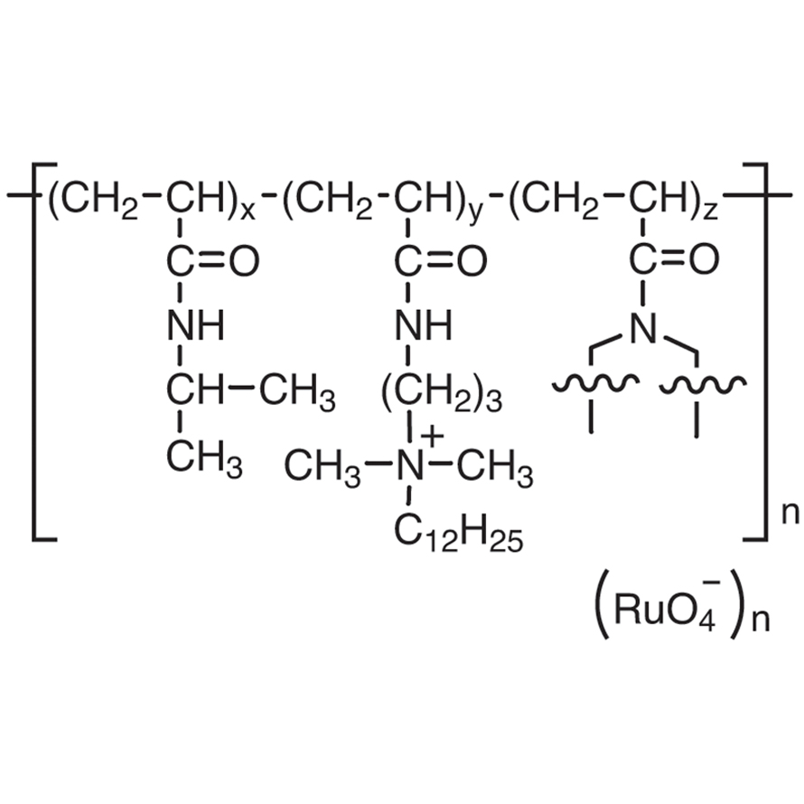 Poly[[N-isopropylacrylamide-co-[N-[3-(dodecyldimethylammonio)propyl]acrylamide]-co-(1,3,5-triacryloylhexahydro-1,3,5-triazine)]perruthenate]