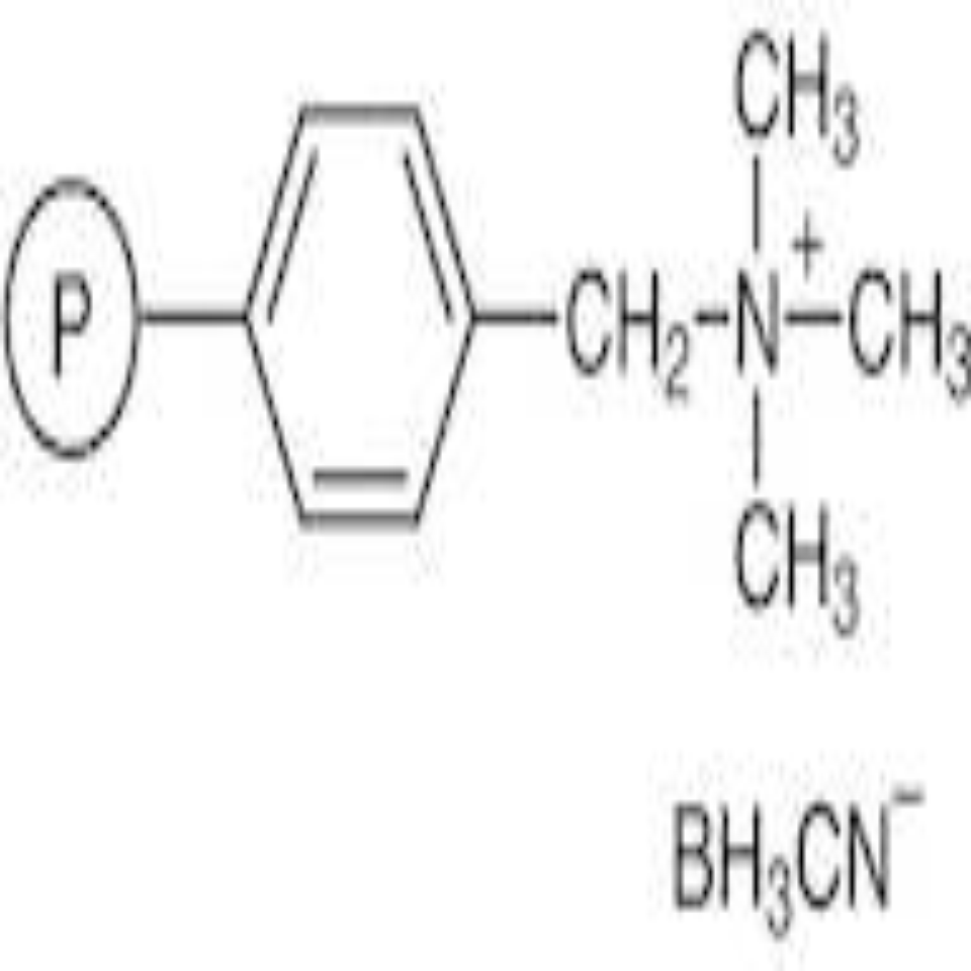 (Polystyrylmethyl)trimethylammonium Cyanoborohydride cross-linked with 10% DVB (30-50mesh) (2.6-3.0mmol/g)