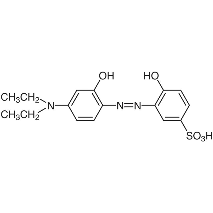 5-Sulfo-4'-diethylamino-2,2'-dihydroxyazobenzene [Reagent for Aluminum]