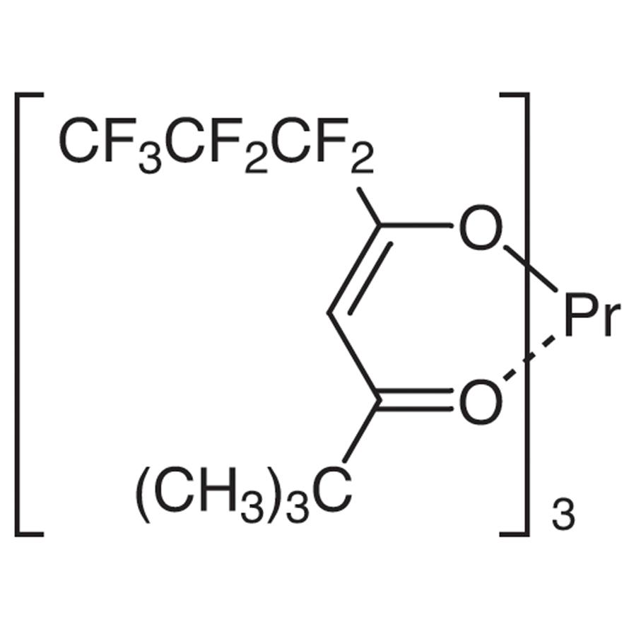 Tris(6,6,7,7,8,8,8-heptafluoro-2,2-dimethyl-3,5-octanedionato)praseodymium(III) [NMR Shift Reagent]