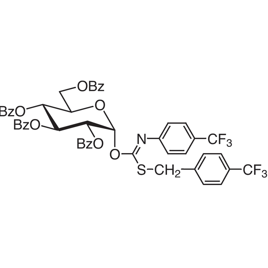 2,3,4,6-Tetra-O-benzoyl--D-glucopyranosyl p-Trifluoromethylbenzylthio-N-(p-trifluoromethylphenyl)formimidate