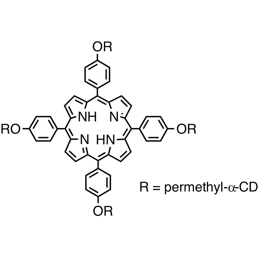 5,10,15,20-Tetrakis[4-(per-O-methyl--cyclodextrin-6-yloxy)phenyl]porphyrin