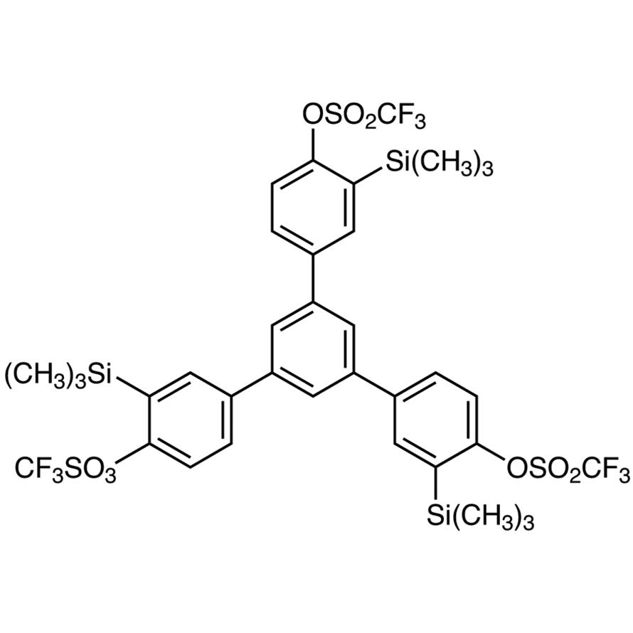 1,3,5-Tris[4-(trifluoromethanesulfonyloxy)-3-(trimethylsilyl)phenyl]benzene