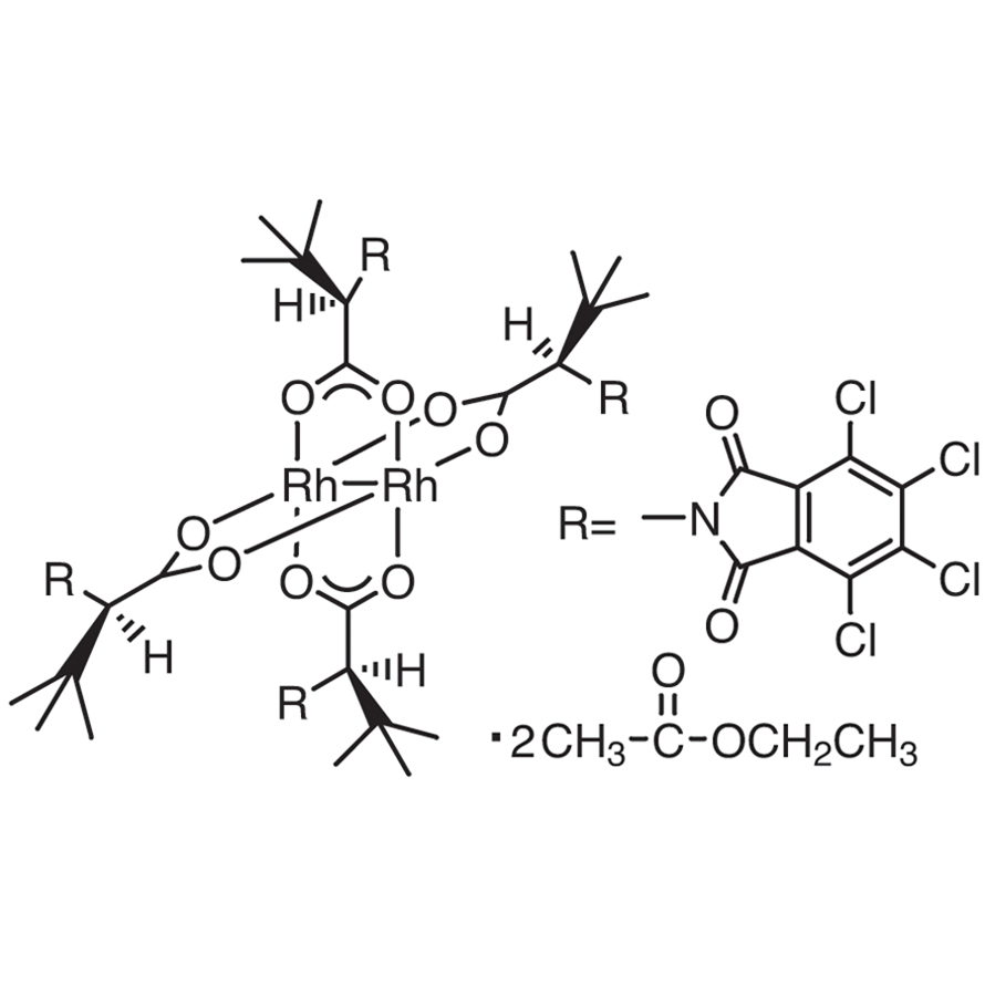 Tetrakis[N-tetrachlorophthaloyl-(R)-tert-leucinato]dirhodium Bis(ethyl Acetate) Adduct