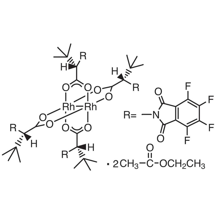 Tetrakis[N-tetrafluorophthaloyl-(S)-tert-leucinato]dirhodium Bis(ethyl Acetate) Adduct