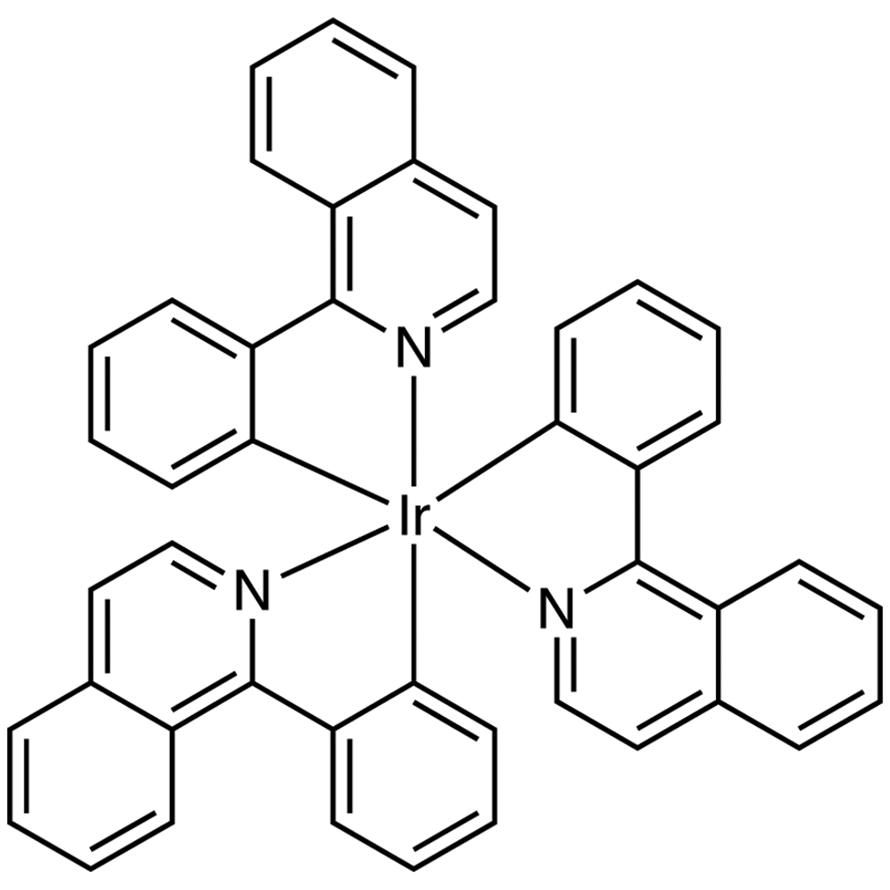 Tris[1-phenylisoquinoline-C2,N]iridium(III) (purified by sublimation)