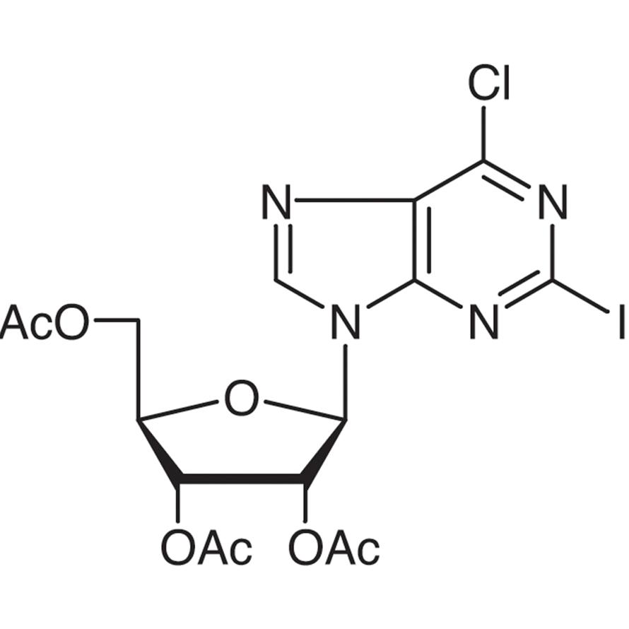 2',3',5'-Tri-O-acetyl-6-chloro-2-iodopurine Riboside