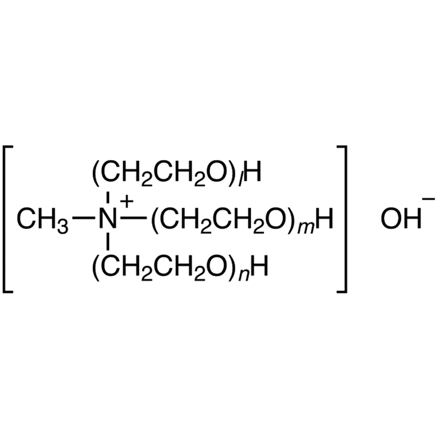 N,N,N-Tris(polyoxyethylene)-N-methylammonium Hydroxide (55-65% in Water) (stabilized with MEHQ)