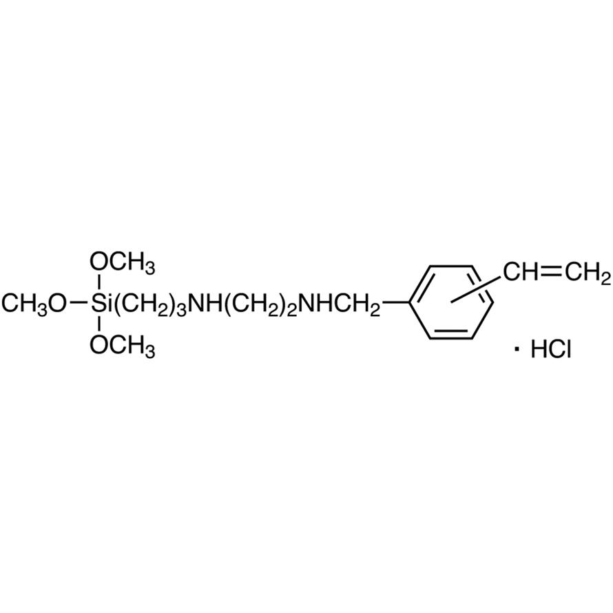 N-[2-(N-Vinylbenzylamino)ethyl]-3-aminopropyltrimethoxysilane Hydrochloride (30-40% in Methanol)