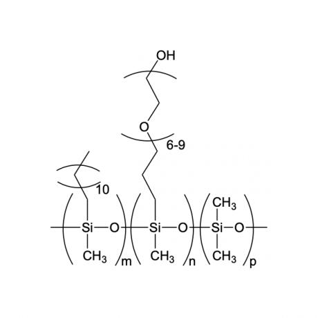 (30-35% DODECYLMETHYLSILOXANE)-[7-10% HYDROXY(POLYETHYLENEOXY(6-9)PROPYL)METHYLSILOXANE]-(55-65% DIMETHYLSILOXANE) TERPOLYMER, 250-350 cSt