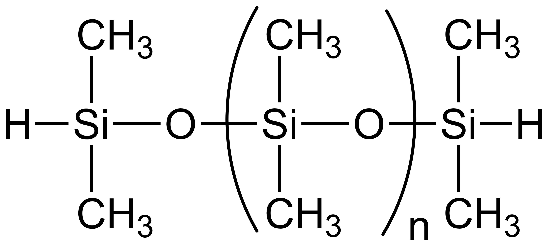 MONODISPERSE HYDRIDE TERMINATED POLYDIMETHYLSILOXANE, 100 cSt