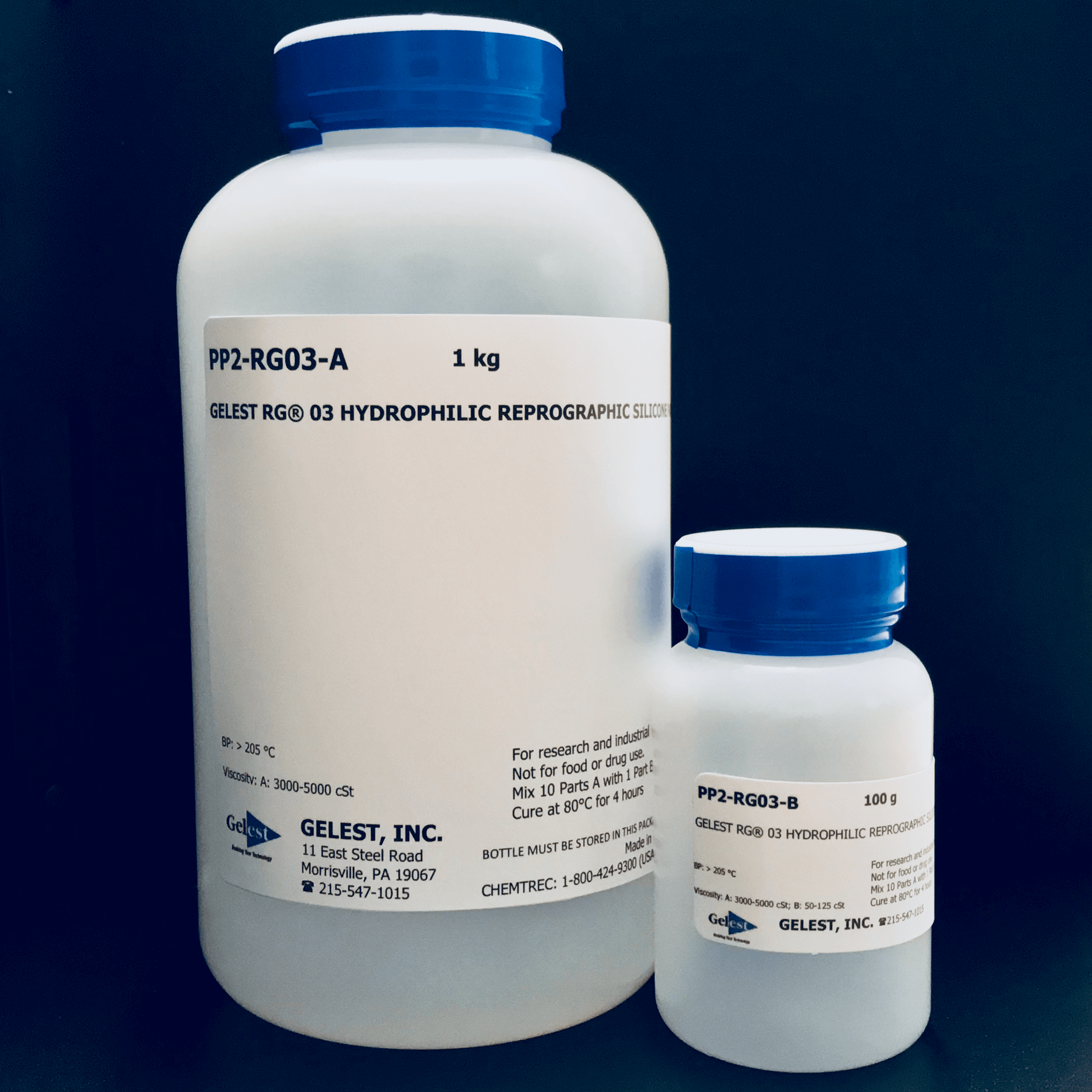 GELEST® RG 03: HYDROPHILIC REPROGRAPHIC SILICONE 1kg Kit