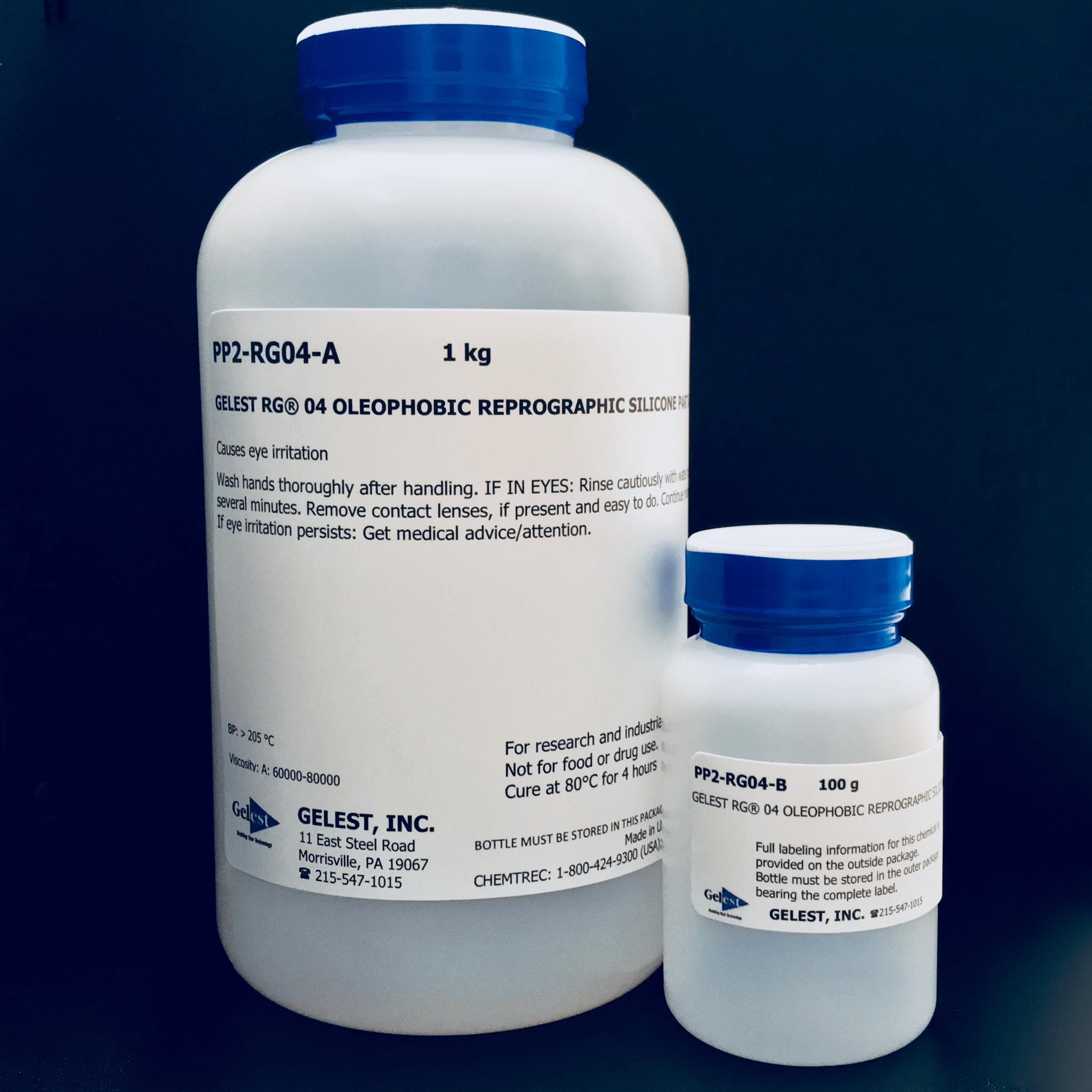 GELEST® RG 04: OLEOPHOBIC REPROGRAPHIC SILICONE 100 gram SpeedMixer 100g Kit