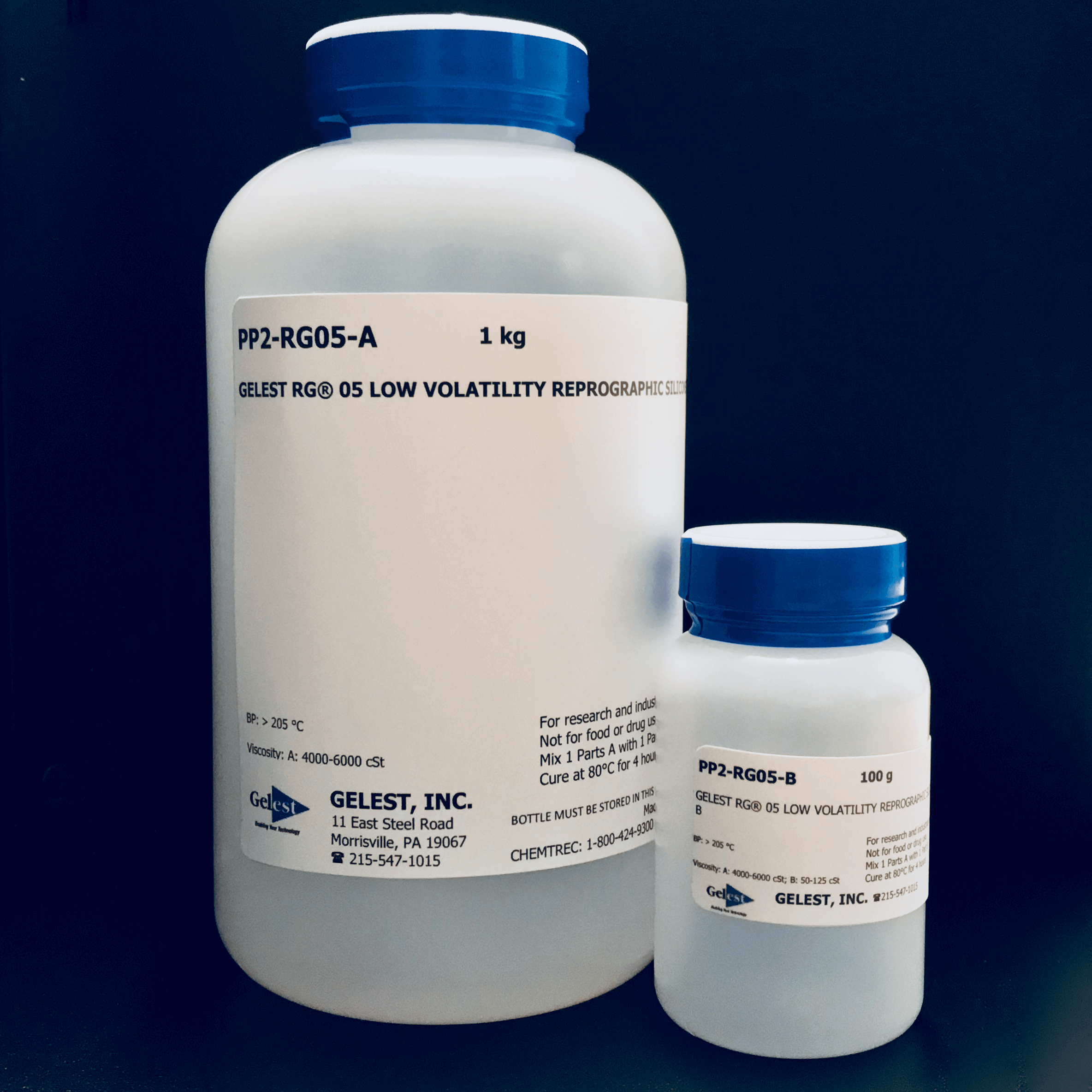 GELEST® RG 05: REPROGRAPHIC SILICONE Low Volatility 220g Kit