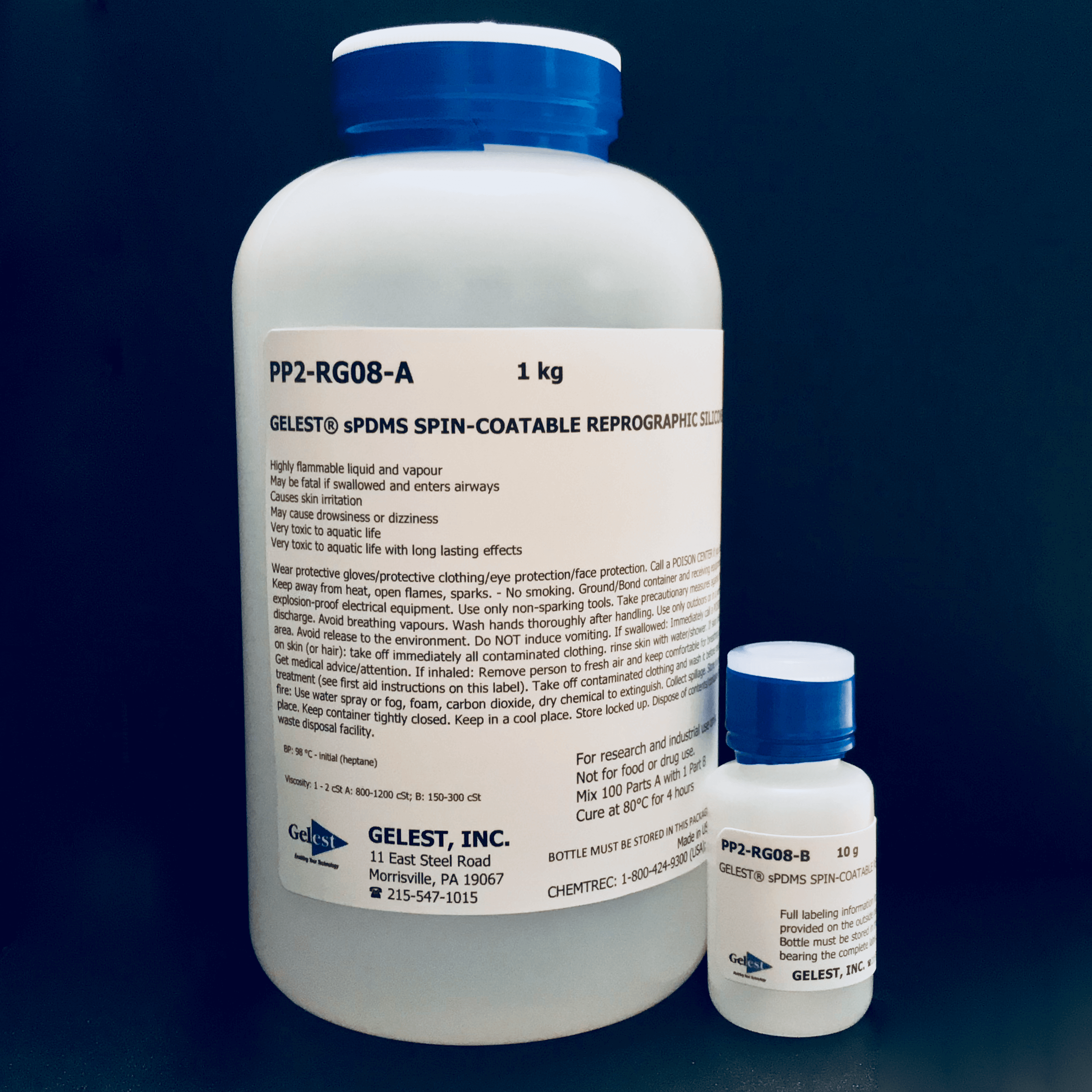 GELEST® sPDMS: SPIN-COATABLE REPROGRAPHIC SILICONE 1.01kg Kit