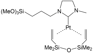 PLATINUM-[N-METHYL-N-(TRIMETHOXYSILYLPROPYL)IMIDAZOL-2-YLIDENE] [DIVINYLTETRAMETHYLDISILOXANE] COMPLEX