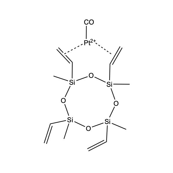 PLATINUM CARBONYL CYCLOVINYLMETHYLSILOXANE COMPLEX; 1.85-2.1% Pt in CYCLOMETHYLVINYLSILOXANES