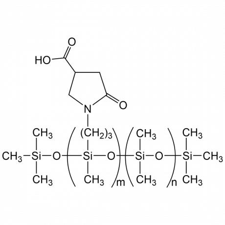 (N-PYRROLIDONEPROPYL)METHYLSILOXANE - DIMETHYLSILOXANE COPOLYMER, 400-600 cSt