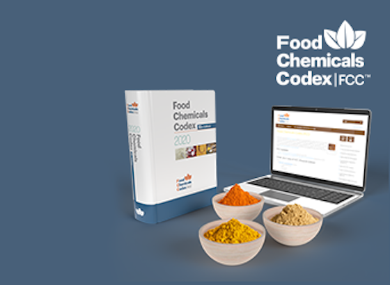 USP Food Chemicals Codex 12th Edition (3rd Supplement Only) Book