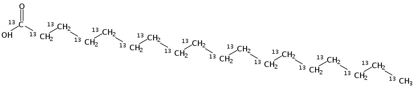 Octadecanoic acid-UL-13C18 (13C 98%, CP 95%)