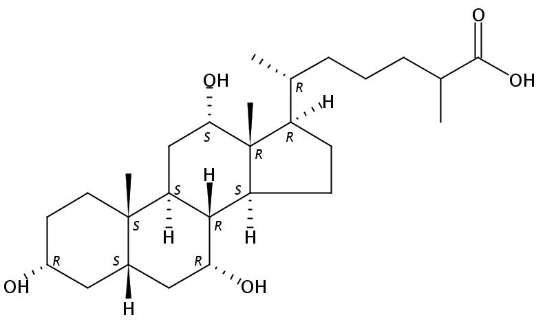 3,7,12-Trihydroxycoprostanoic acid