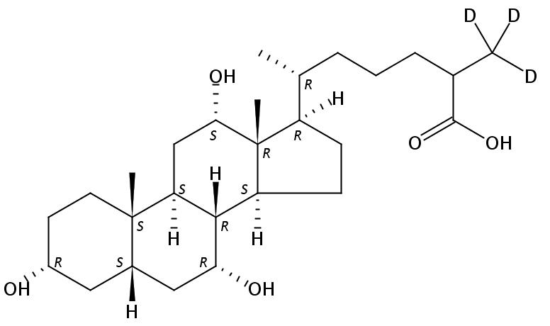 3,7,12-Trihydroxycoprostanic acid-D3