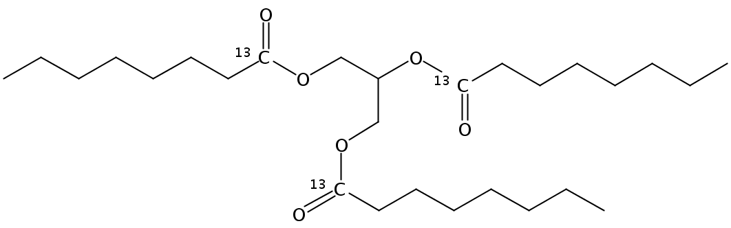 Trioctanoin-1,1,1-13C3