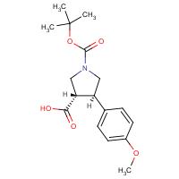 trans-1-(tert-Butoxycarbonyl)-4-(4-methoxyphenyl)pyrrolidine-3-carboxylic acid