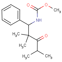 Methyl N-(2,2,4-trimethyl-3-oxo-1-phenylpent-1-yl)carbamate