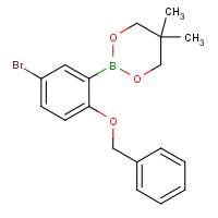 2-(Benzyloxy)-5-bromobenzeneboronic acid, neopentyl glycol ester