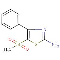 2-Amino-5-(methylsulphonyl)-4-phenyl-1,3-thiazole