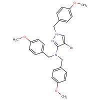 4-Bromo-N,N,1-tris[(4-methoxyphenyl)methyl]-1H-pyrazol-3-amine