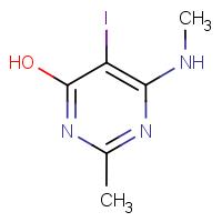 4-Hydroxy-5-iodo-2-methyl-6-(methylamino)pyrimidine