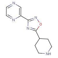 2-[5-(Piperidin-4-yl)-1,2,4-oxadiazol-3-yl]pyrazine
