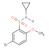 5-Bromo-N-cyclopropyl-2-methoxybenzenesulphonamide 97%