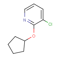 3-Chloro-2-(cyclopentyloxy)pyridine