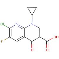 1-Cyclopropyl-6-fluoro-7-chloro-4-oxo-1,4-dihydro-1,8-napthyridine-3-carboxylic acid