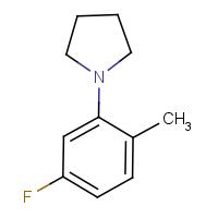1-(5-Fluoro-2-methylphenyl)pyrrolidine