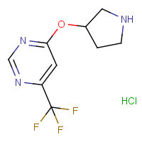 4-(Pyrrolidin-3-yloxy)-6-(trifluoromethyl)pyrimidine hydrochloride