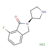 (S)-7-Fluoro-2-(pyrrolidin-3-yl)isoindolin-1-one hydrochloride