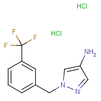 1-[3-(Trifluoromethyl)benzyl]-1H-pyrazol-4-amine dihydrochloride